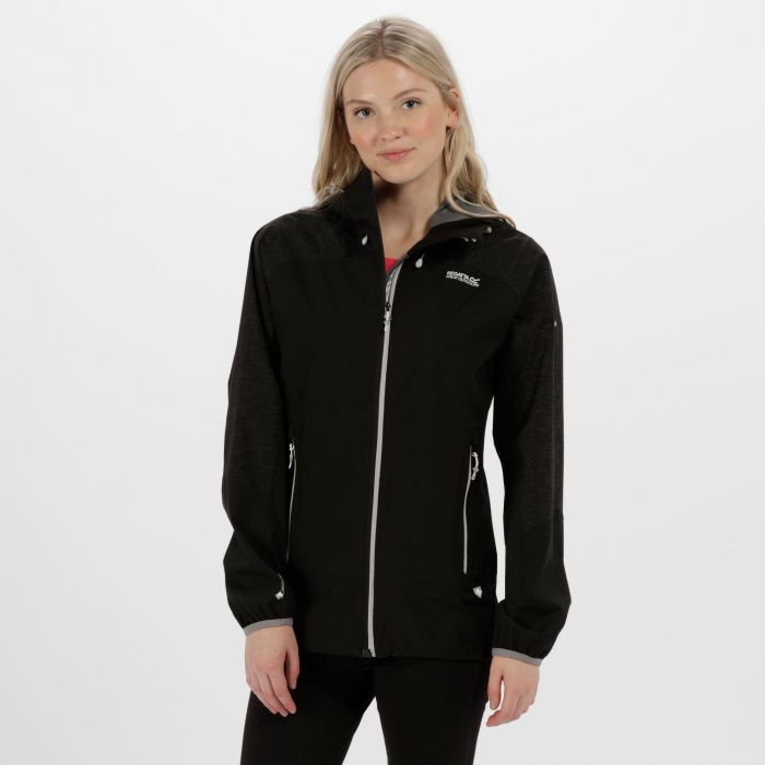 Women's Montegra Reflective Waterproof Jacket Black