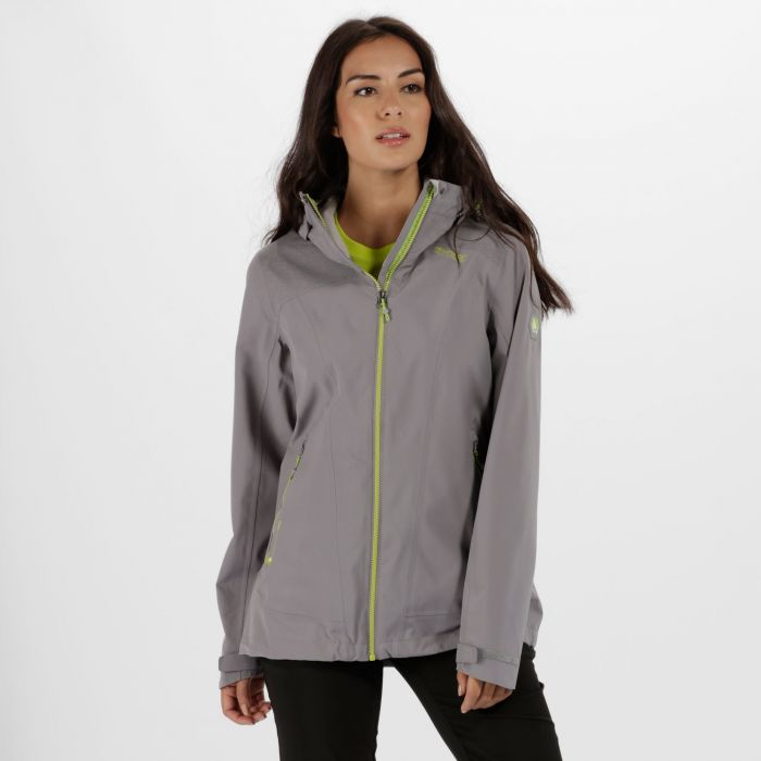 Women's Oklahoma III Reflective Waterproof Jacket Rock Grey