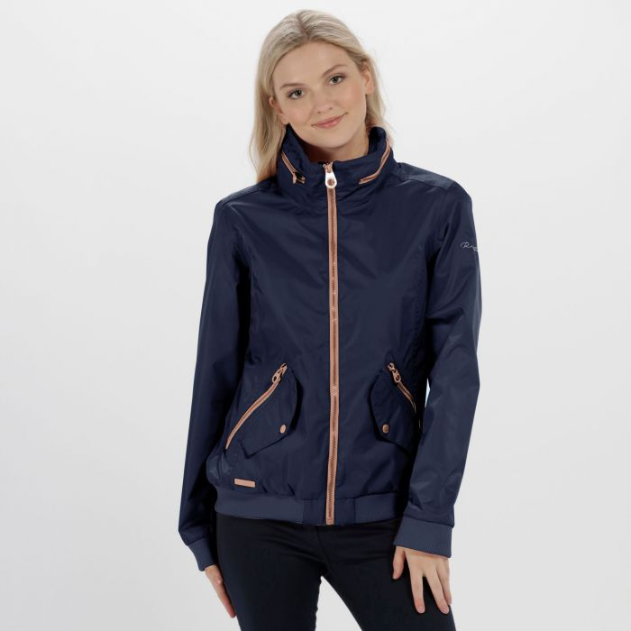 Kadisha Lightweight Waterproof Festival Jacket Navy