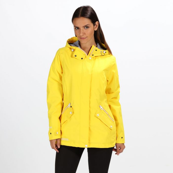 half off new products for quality Women's Basilia Lightweight Hooded Waterproof Jacket - Yellow Sulphur