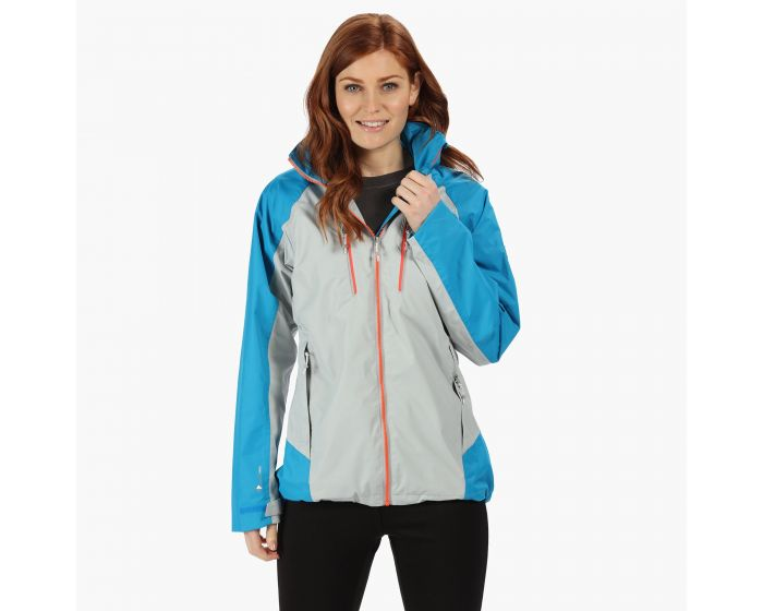 Womens Calderdale Iii Lightweight Waterproof Jacket Light Steel Atlantic Blue
