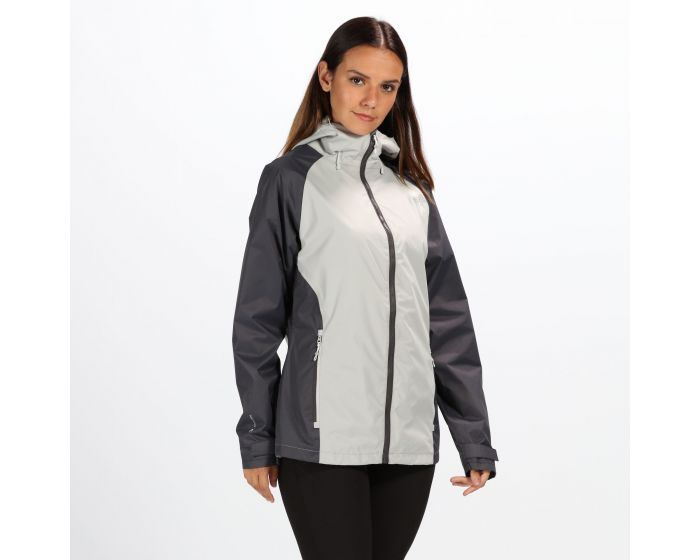 Womens Atten Waterproof Shell Jacket Light Steel Seal Grey