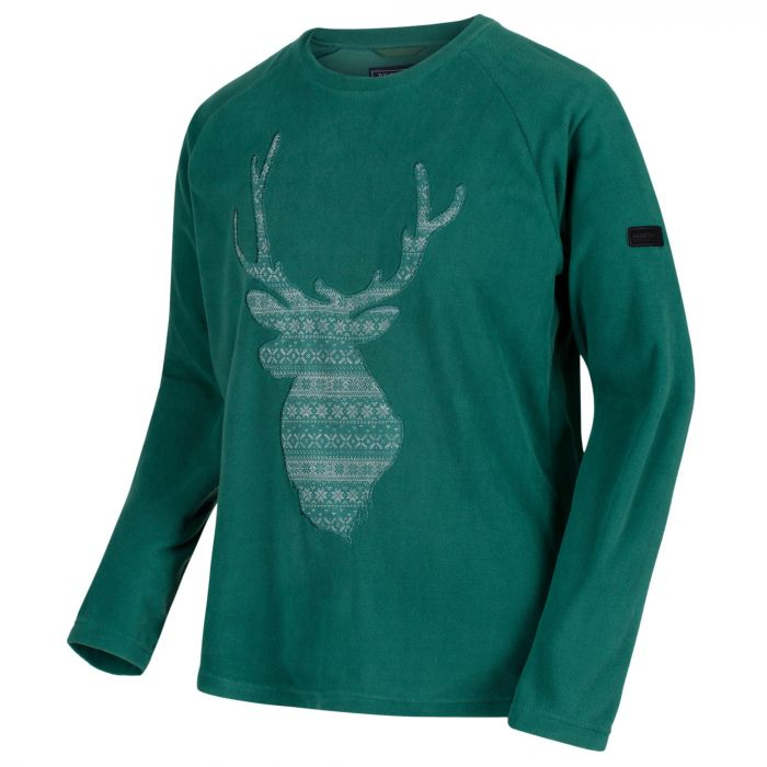 Men's Cain Crew Neck Christmas Sweater Bottle Green
