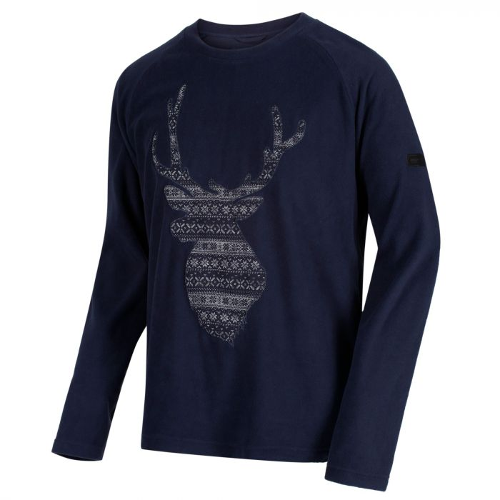 Men's Cain Crew Neck Christmas Sweater Navy