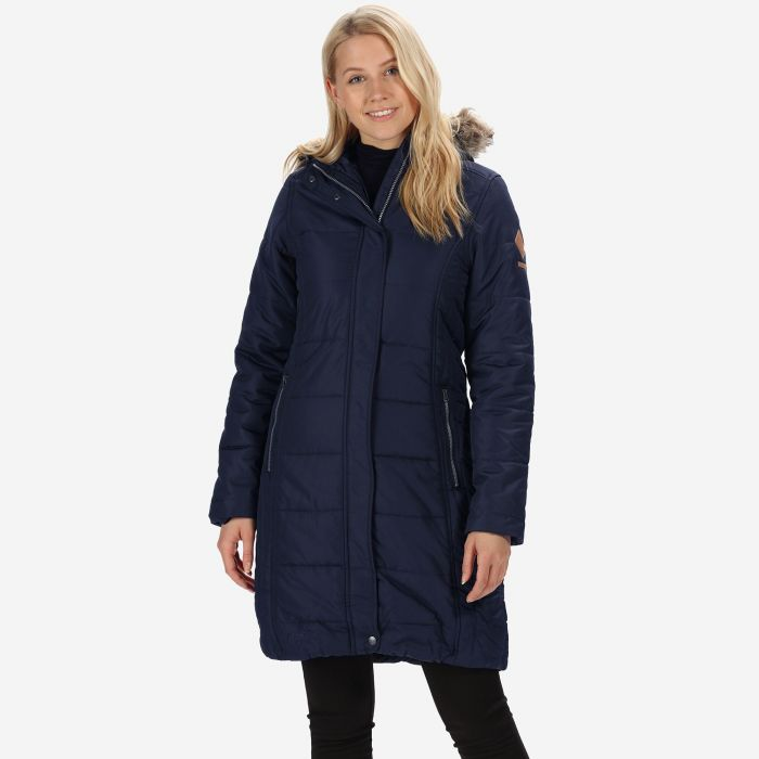 c34f51c4 Fearne III Long Length Quilted Puffer Parka Jacket Navy | Regatta ...