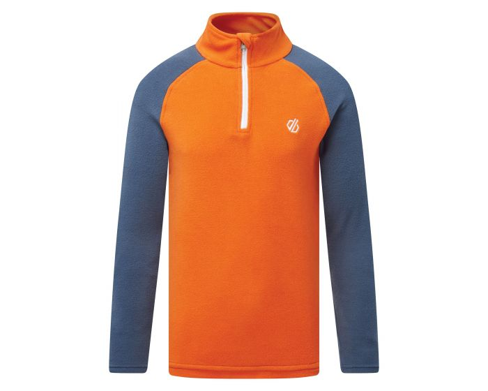 Dare 2b - Kids Freehand Half Zip Fleece Blaze Orange Dark Denim