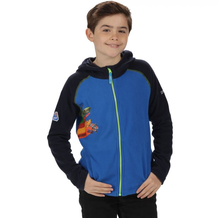 Thunderbirds Are Go Kids Hyperspeed Hooded Fleece Oxford Blue