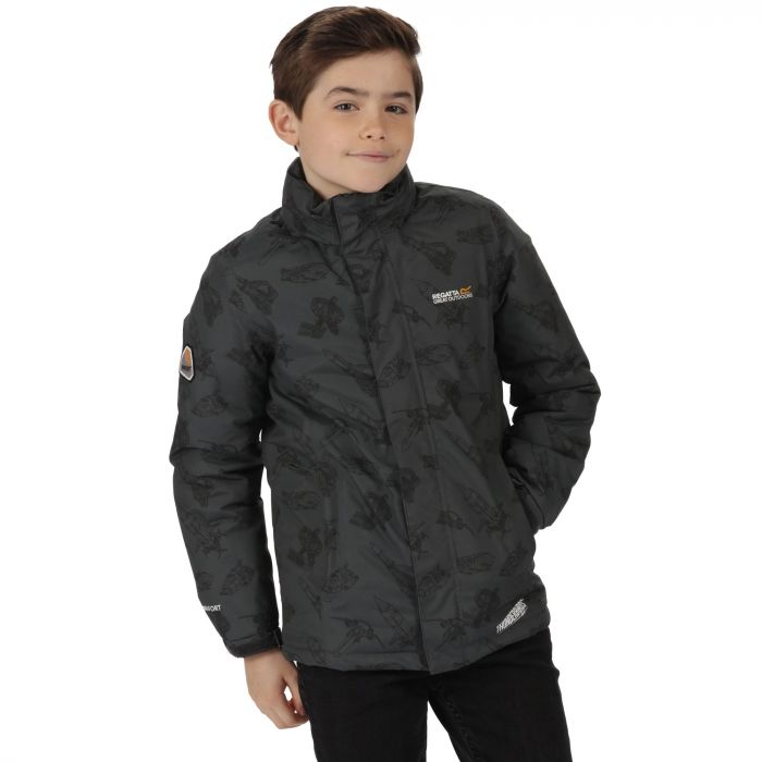 Thunderbirds Are Go Kids Dozer Waterproof Hooded Jacket Seal Grey