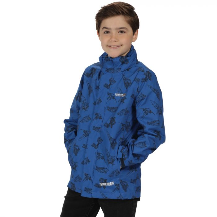 Thunderbirds Are Go Kids Dozer Waterproof Hooded Jacket Oxford Blue