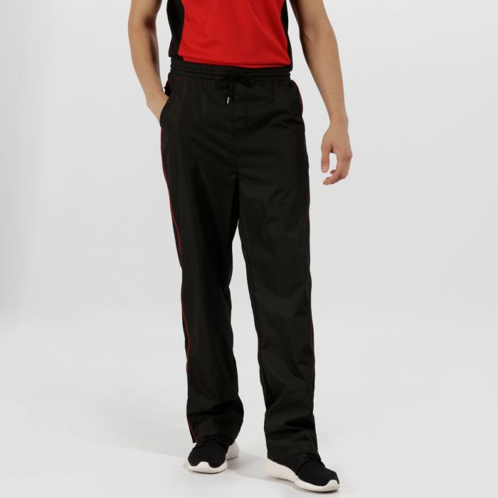 Men's Athens Tracksuit Bottoms Black Classic Red