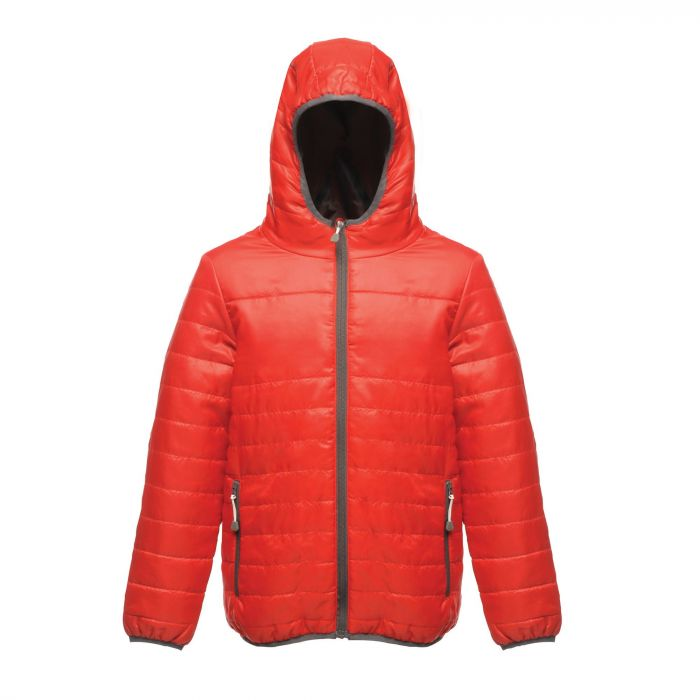 7ce5bfbb70bd Kids Stormforce Thermal Insulated Hooded Jacket Classic Red ...