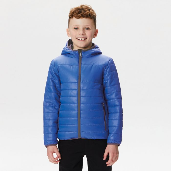 Kids Stormforce Thermal Insulated Hooded Jacket Royal Blue