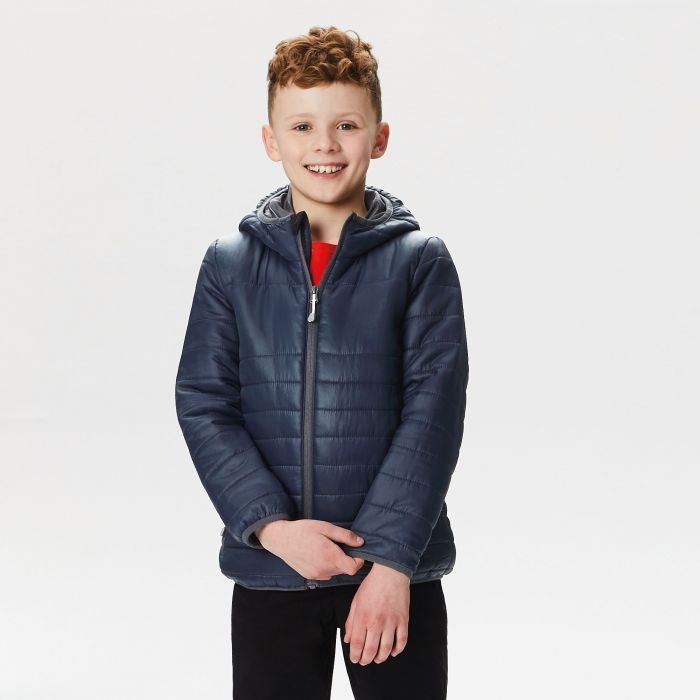 Kids Stormforce Thermal Insulated Hooded Jacket Navy