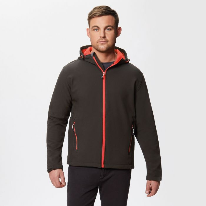 Arley II Hooded Softshell Black Classic Red