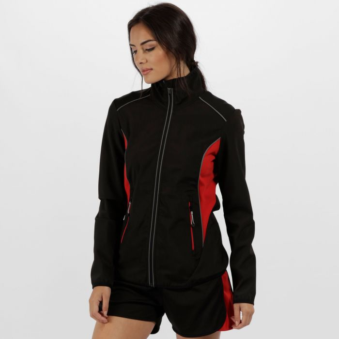 Women's Sochi Reflective Softshell Black Classic Red