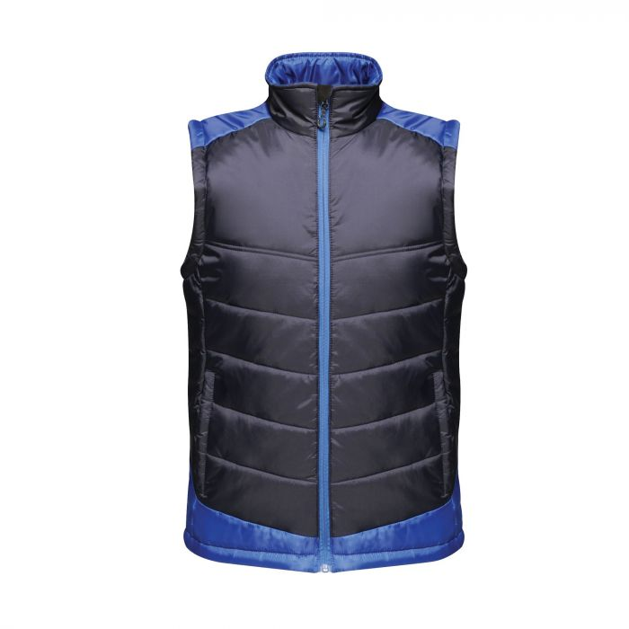 Men s Contrast Insulated Bodywarmer Navy New Royal Blue ed0d9bf85c27