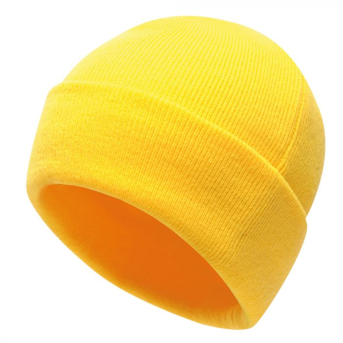 Axton Cuffed Beanie Bright Yellow
