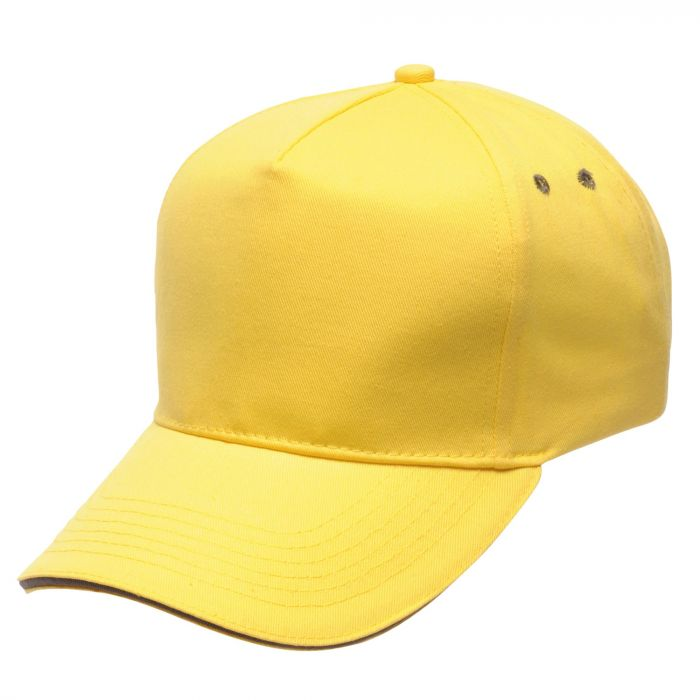 Amston Cap Bright Yellow Seal Grey