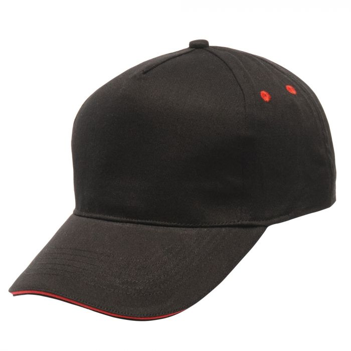 Amston Cap Black Classic Red