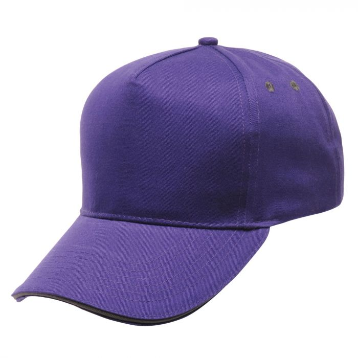 Amston Cap Majestic Purple Seal Grey