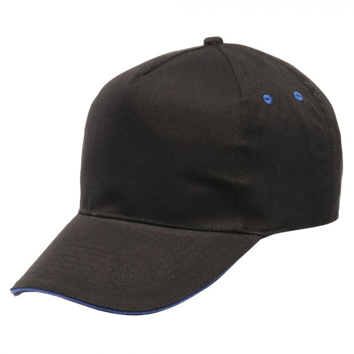 Amston Cap Black Oxford Blue