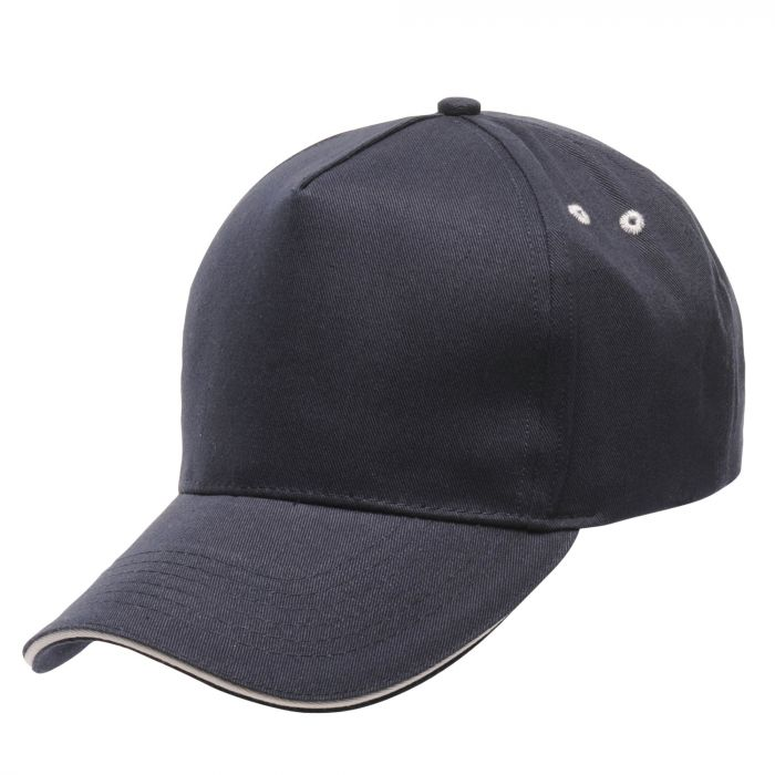 Amston Cap Navy Parchment