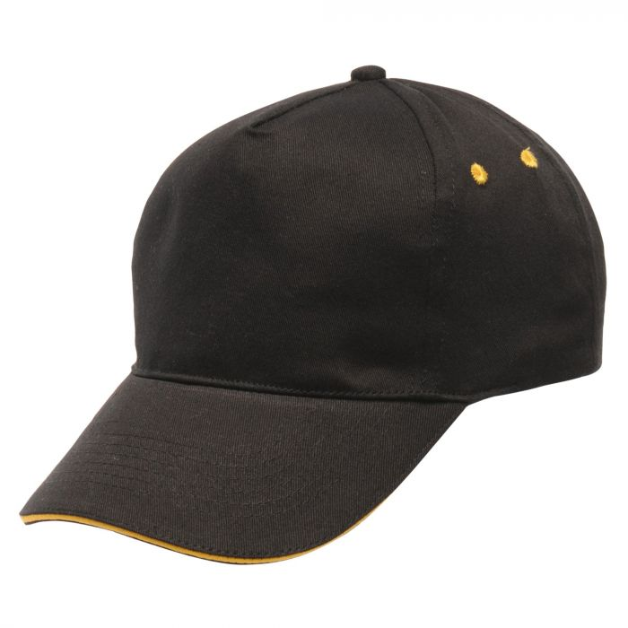 Amston Cap Black Bright Yellow