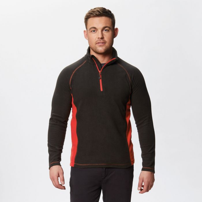 Ashmore Half Zip Fleece Black Classic Red