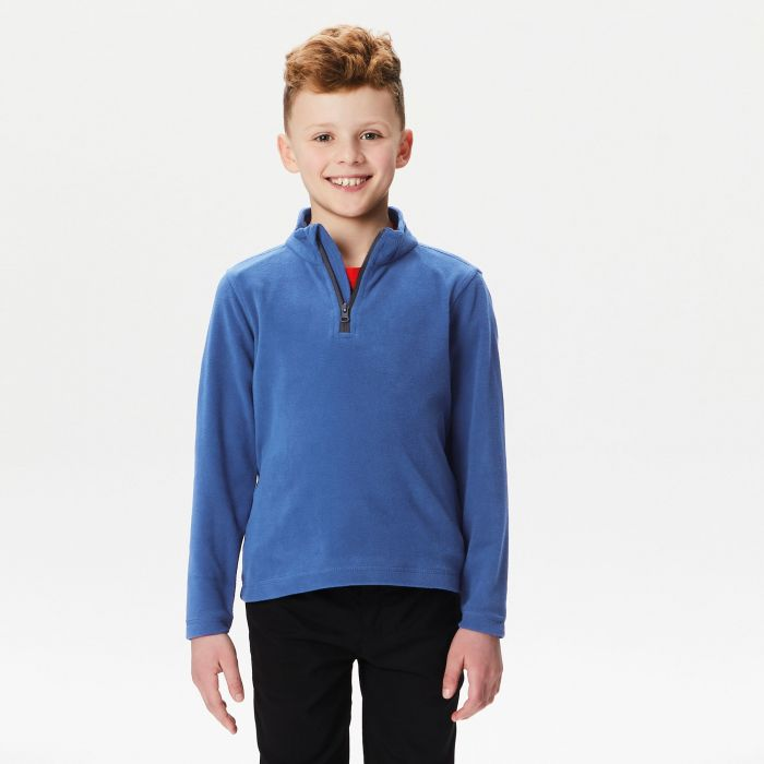 Kids Brigade Half Zip Fleece Royal Blue