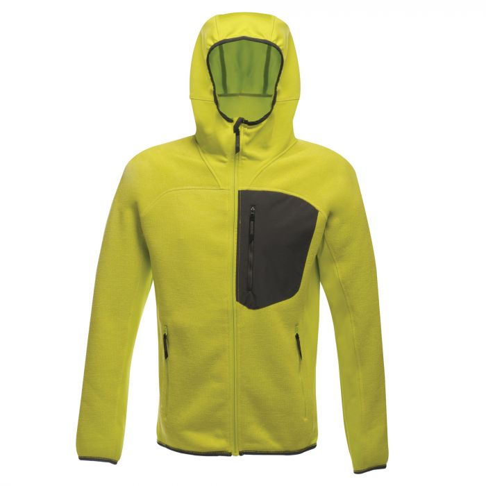 Coldspring Stretch Hybrid Hooded Fleece Lime Punch