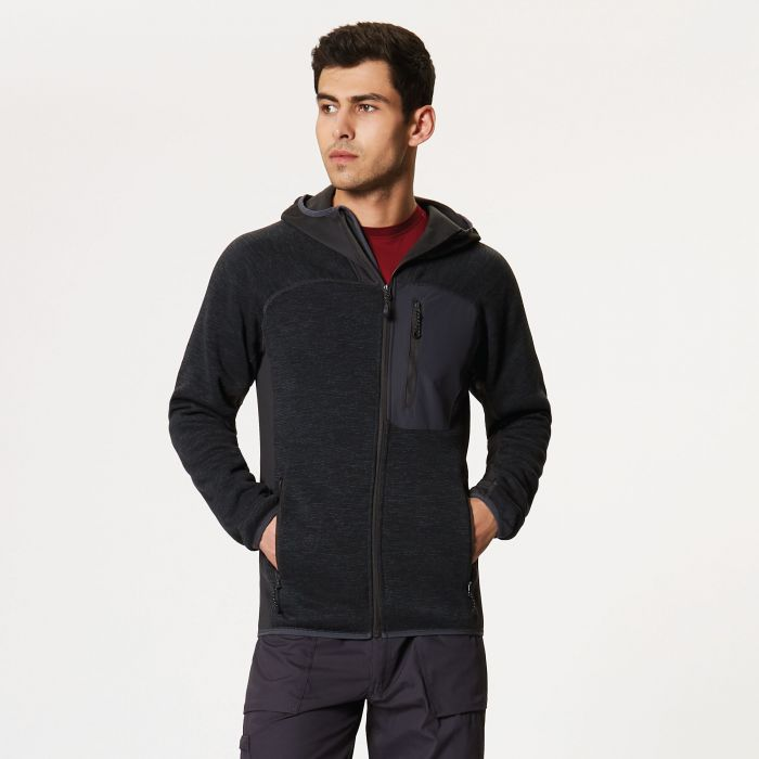 Coldspring Stretch Hybrid Hooded Fleece Ash