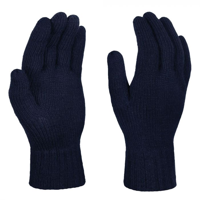 Mens Thermal Knitted Gloves Navy