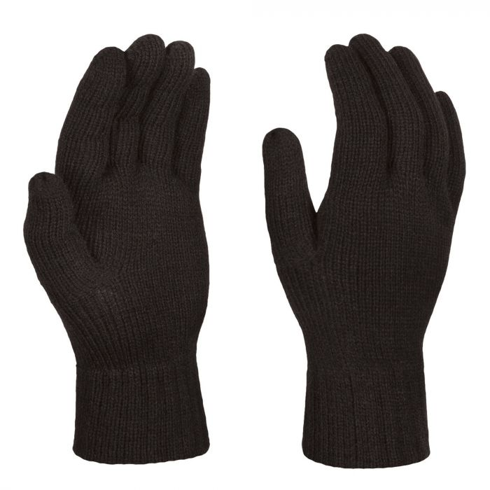 Mens Thermal Knitted Gloves Black