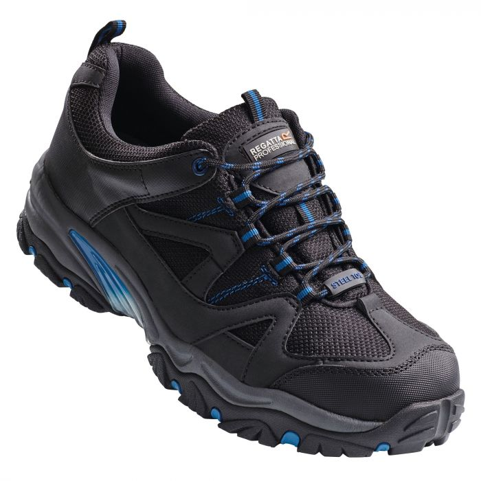 Riverbeck Steel Toe Cap Safety Trainer Black OxBlue