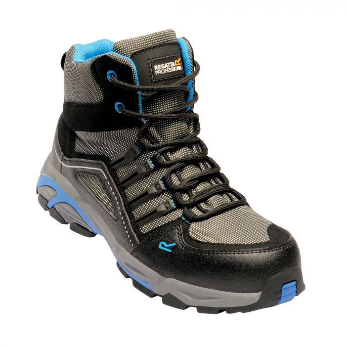 Convex Steel Toe Cap Safety Hiker Black Oxford Blue