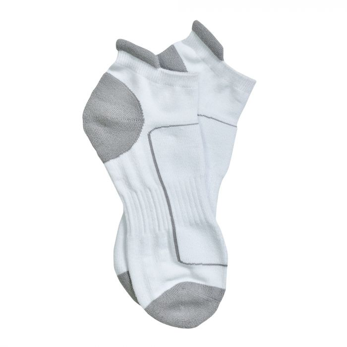 Adults Low Cut Sport Socks White Light Steel