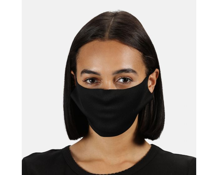 Adults Anti-bac Washable Face Covering 10 Pack Black