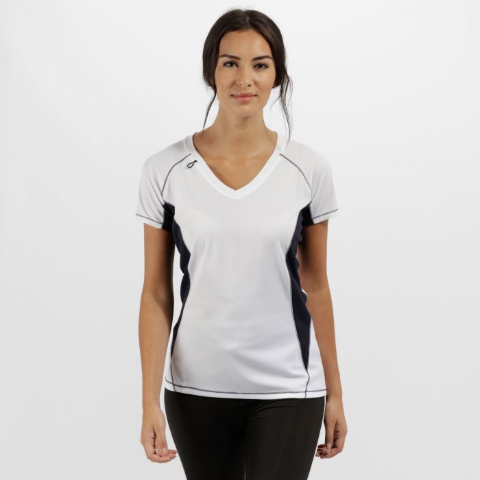 Women's Beijing Lightweight Cool and Dry Sports T-Shirt White/Navy