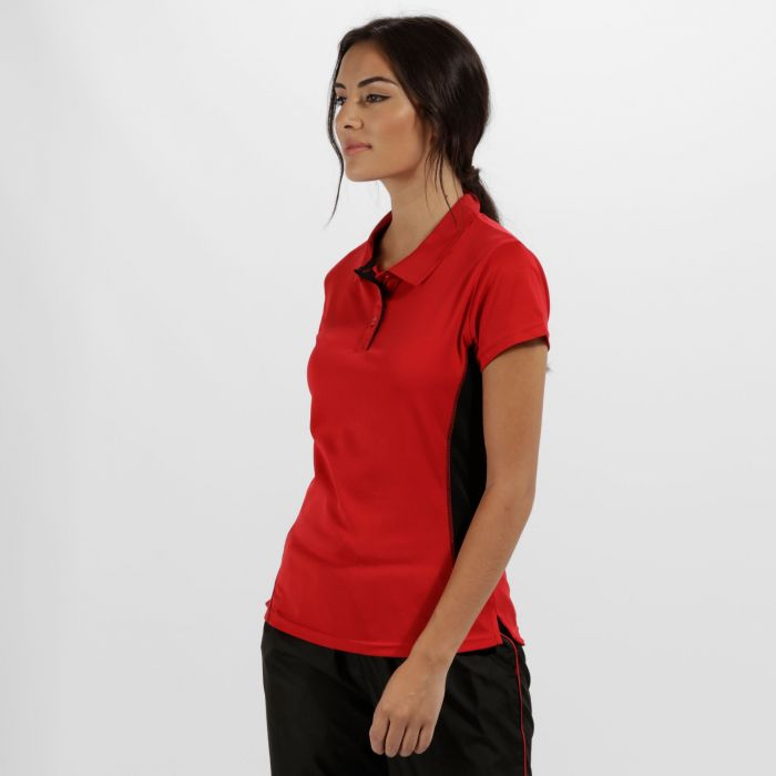 Women's Salt Lake Light and Dry Sports Polo Shirt Classic Red