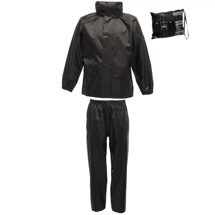 Kids 2 Piece Puddle Suit Black