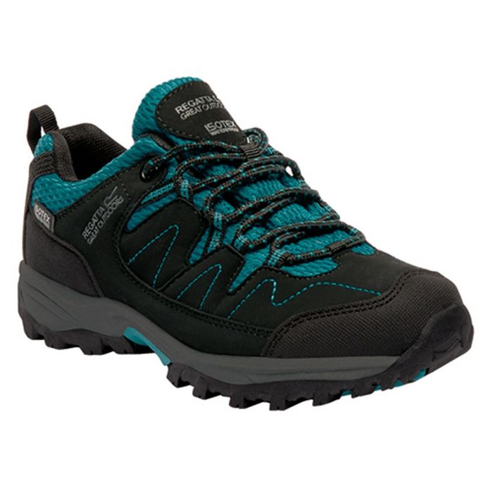 Kids Holcombe Low Walking Shoes Black Deep Lake