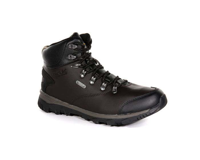 Men S Kota Leather Mid Walking Boots Peat Treetop