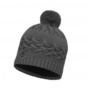 Buffera Lifestyle Knitted & Polar Fleece Hat Savva Grey
