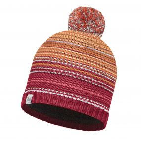 Buffera Lifestyle Knitted & Polar Fleece Hat Neper Red Samba