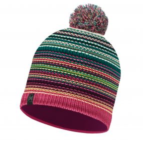 Buffera Lifestyle Knitted & Polar Fleece Hat Neper Magenta
