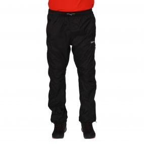 Men's Active Pack Away Breathable Waterproof Overtrousers Black