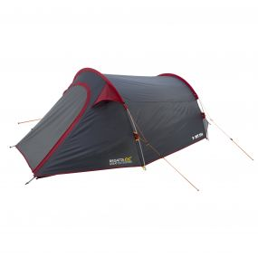 Halin 3-Man Backpacking Tent Grey-Red