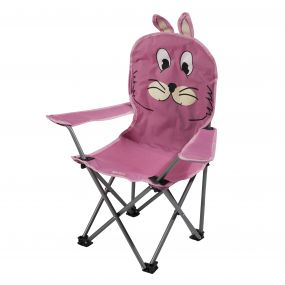 Kids Animal Lightweight Folding Camping Chair Rabbit Pink