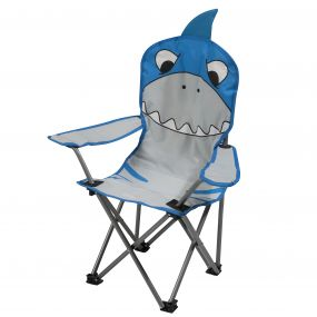 Kids Animal Lightweight Folding Camping Chair Shark Blue