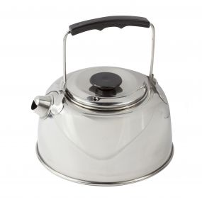 1 Litre Steel Camping Kettle Stainless Steel Silver